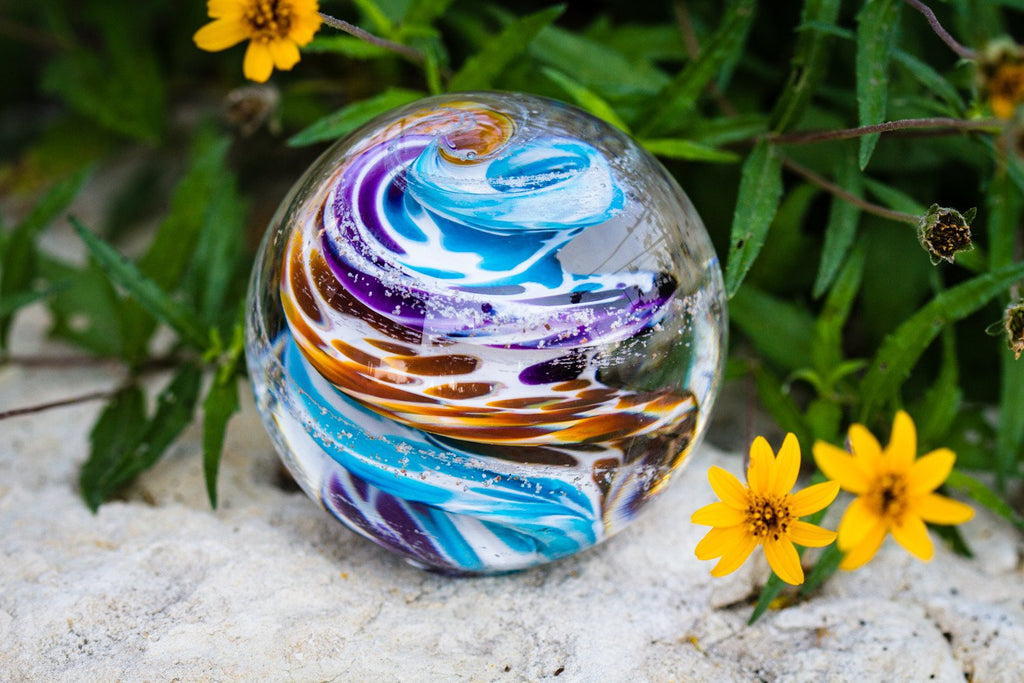 tan-purple-cat-eye-paperweight-with-infused-cremation-ash
