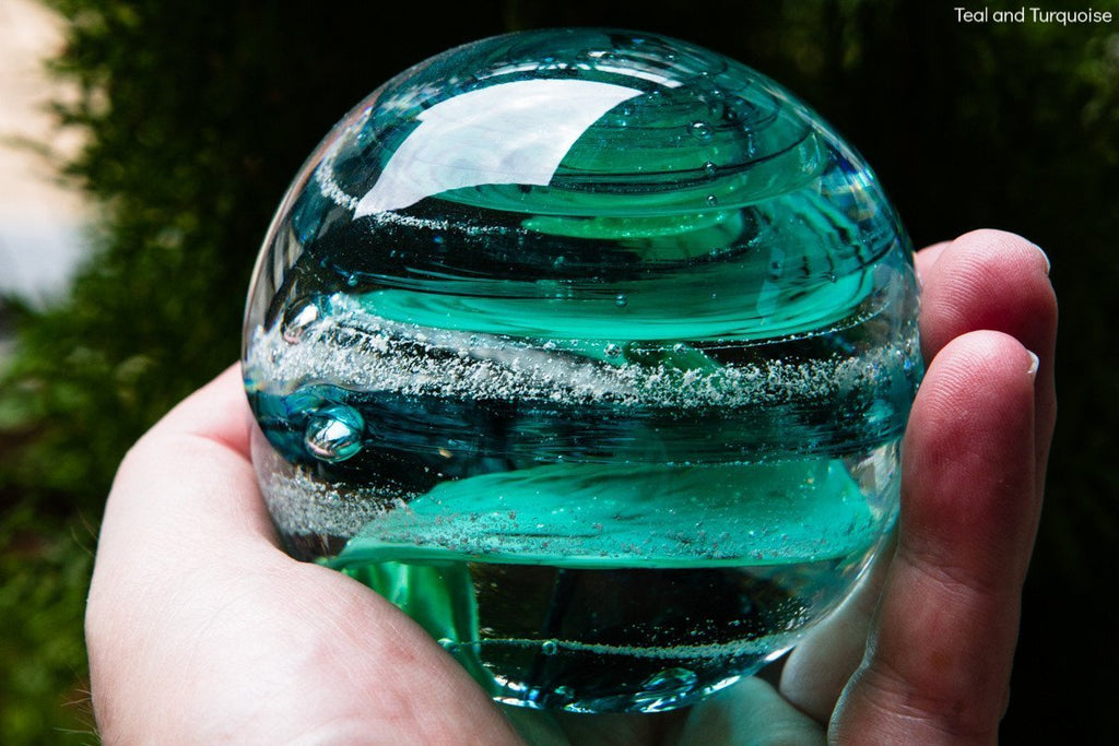 Tranquil Swirl Paperweight with Cremation Ash - FREE SHIPPING by Rachel - PAPERWEIGHT | $159.00