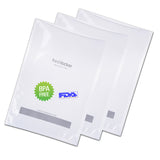 "Freshlocker Vacuum Sealer Bags 100pcs 11""x16"" Sous Vide Bags 4 mil Embossed Commercial Grade BPA Free/FDA Approved Reusable Food Saver Bags Rolls for Food Vac Storage & Seal, Microwave & Freezer Safe, Seal a meal - freshlocker"