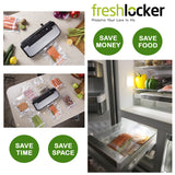 Freshlocker VS160S Vacuum Sealer Automatic Food Vacuum Sealer Vacuum machine with Starter Bags and Rolls Sets for Food Saver and Sous Vide(Stainless Steel) - freshlocker