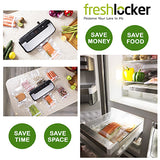 "Freshlocker Vacuum Sealer Rolls 2 Rolls 8""x 50' & 11''x 50' Combo Vacuum Sealer Bags 4 mil Embossed Commercial Grade BPA Free/FDA Approved Reusable Food Saver Bags Rolls for Food Preservation and Sous Vide Cooking - freshlocker"