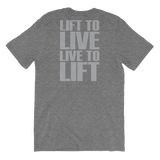 Undisputed Fitness Live to Lift - Short-Sleeve Unisex T-Shirt