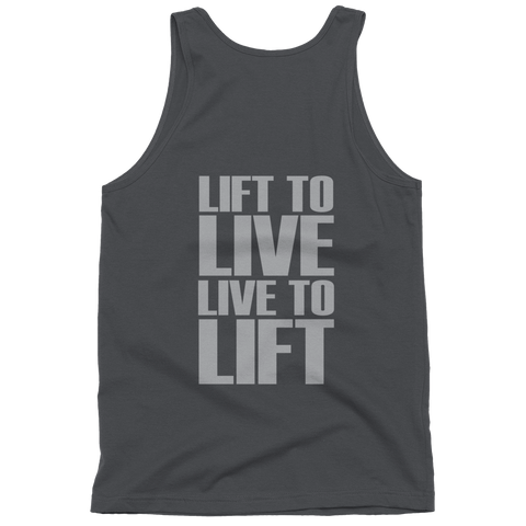 Undisputed Fitness Live to Lift - Classic tank top (unisex)