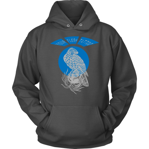 Your Flesh Tattoo, Spilling Heart Eagle - UniSEX Hoodie