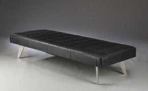 Second May Upholstery Leather Day Bed Black