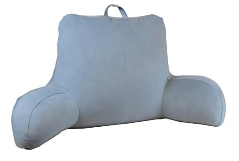 velour bed rest back support pillow gray