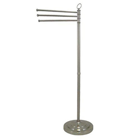 Kingston Brass Cc2028 Pedestal Towel Bar, Satin Nickel [Kitchen]