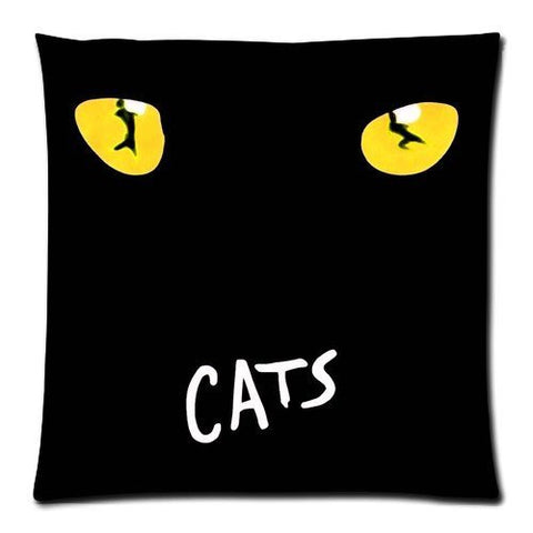 Futefew Soft Pillow Case Cover Throw Pillow 18*18 Inch (Twin sides)Zippered Pillowcase The Broadway Musical Cats Poster Pattern Popular Design