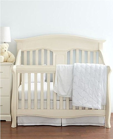 Hudson Park Collection Percale Baby Crib Skirt - Pearl