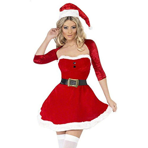 Ulike2 New Arrival Women Sexy Christmas Cosplay Dress Role Playing Dress Nightclub Wear