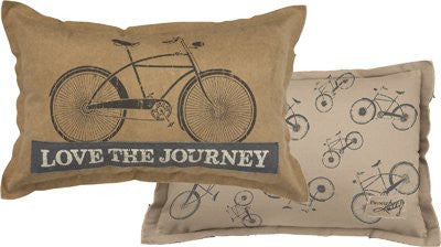 primitives by kathy love the journey throw pillow