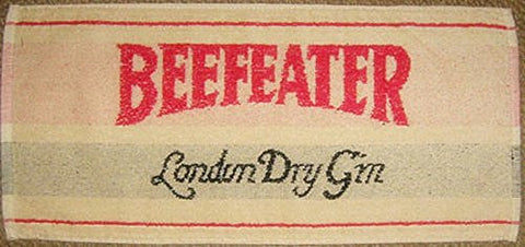 "Beefeater London Dry Gin Cotton Bar Towel 20"" x 10"" (pp)"