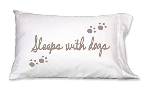 faceplant dreams sleeps with dogs pillowcase 300 thread count cotton white pillowcase 1