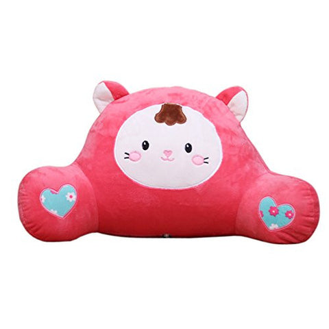 mlotus cute pink bedrest pillow kids girls best bed rest pillows with arms for reading in
