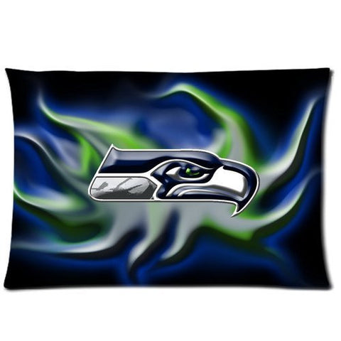 Generic Custom Seattle-Seahawks Pattern Pillow Case Cover 20*30 Two Sides