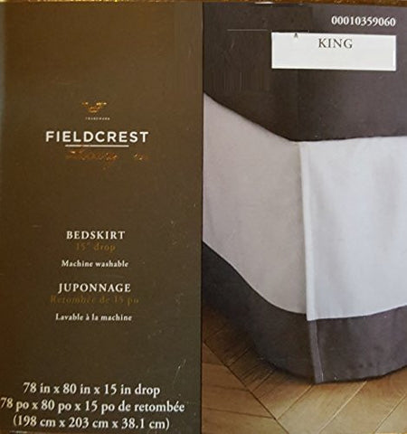 "Bedskirt 15 Inch Drop Fieldcrest 78 in X 80 in X 15"" Drop"