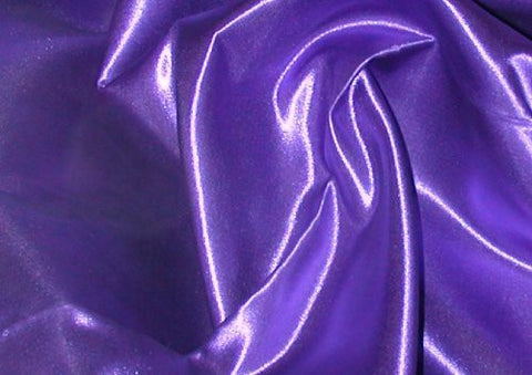 "Premium Bridal Satin Queen Bedskirt - Tailored with Kick pleats with Split Corners 14"" drop - Purple"
