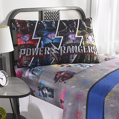 Power Rangers 5pc Full Comforter and Sheet Set Bedding Collection