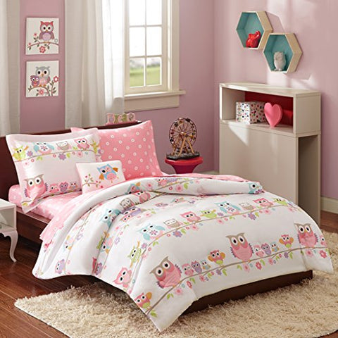 Mi Zone Kids Wise Wendy Complete Bed and Sheet Set Pink Queen