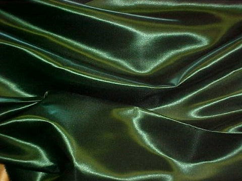 "Premium Bridal Satin Queen Bedskirt - Tailored with Kick pleats with Split Corners 14"" drop - Hunter Green"
