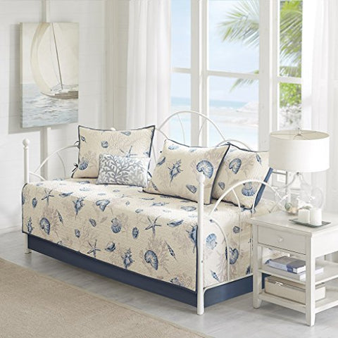 Bayside 6 Piece Daybed Set Blue Daybed
