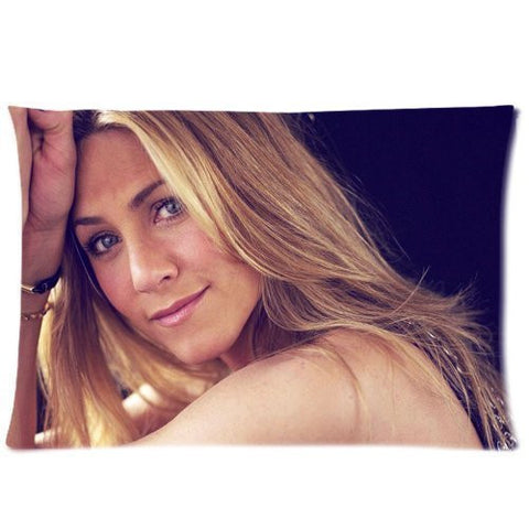 jennifer aniston custom zippered pillow cases soft and confortable 20x30 twin sides