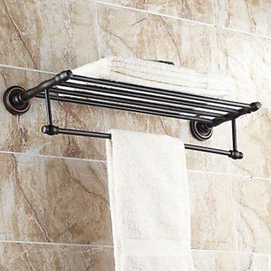 Ling@ Oil Rubbed Bronze Bathroom Shelf With Towel Bar , Bronze