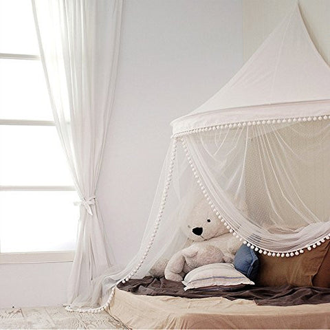 HAN-MM Bed Canopy Hanging Bed Canopy Princess Play Tent and Bed Canopy Round Hoop & Bed Canopies u0026 Drapes u2013 Bed Bath Luxury