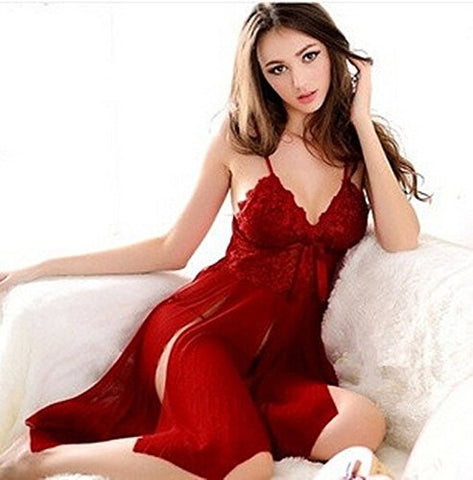 sexy leather lingerie for women for sex : Sexy Lingerie Womens Underwear Babydoll Sleepwear Lace Dress G-string Nightwear