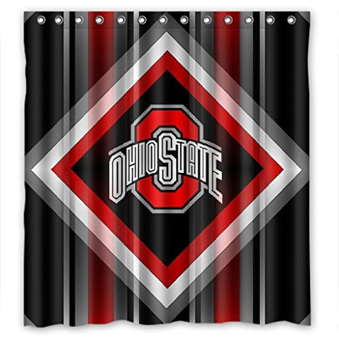 Ohio State Buckeyes High Quality Bathroom Shower Curtain 66 x 72 Inches