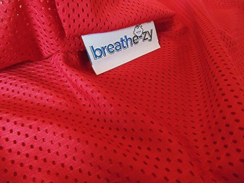 Breathe-zy Anti Suffocation Epilepsy Pillow - Red Pillow Case - breathable with Memory Foam insert for extra comfort & support