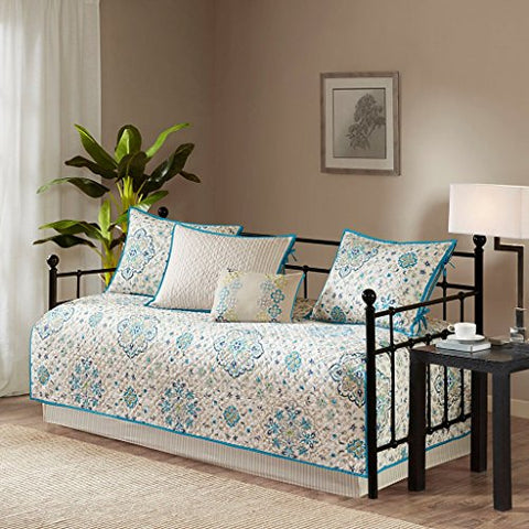 Tissa 6 Piece Daybed Set in Teal