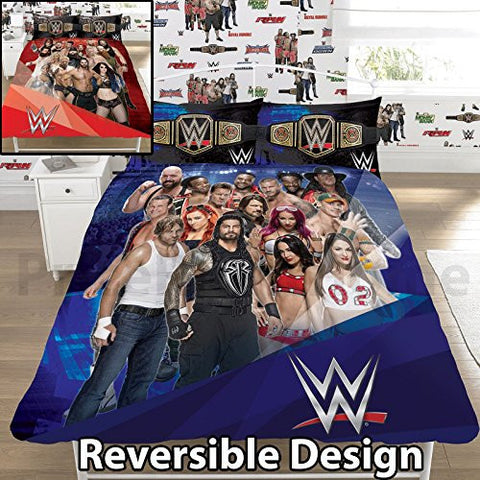 wwe face v heel uk doubleus full duvet cover and pillowcase set
