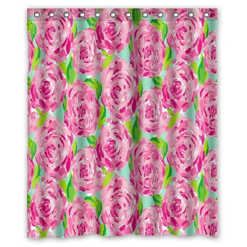 "Fashion press Flawless Gorgeous Creative Lilly Pulitzer Shower Retro Curtain Shower 100% WaterProof Polyester Fabric 60"" x 72"" Inches Standard"
