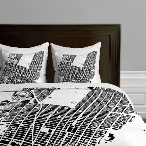 deny designs cityfabric inc nyc midtown white duvet cover twintwin xl