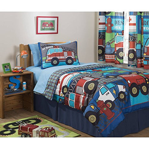 Mainstays Kids Heroes at Work Bed in a Bag Bedding Set - FULL