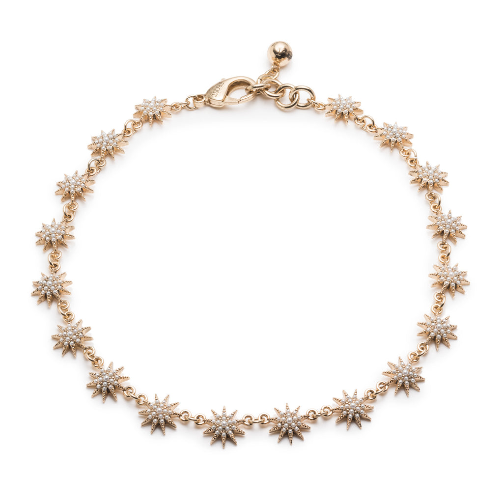 Electra Riviera Necklace - Gold & Pearl - Photo