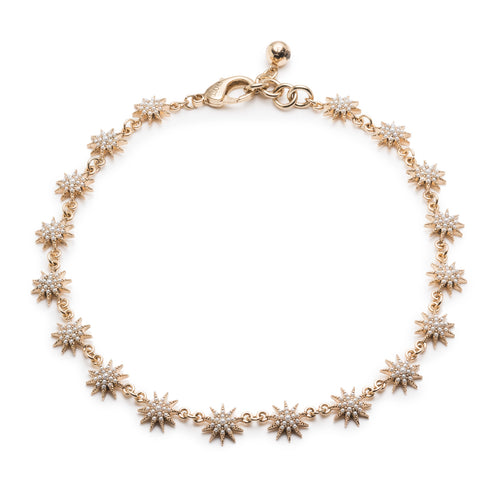 Electra Riviera Necklace - Gold & Pearl