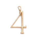 Plaza Number Charm #4 Large