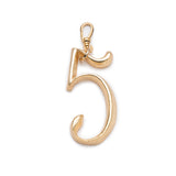 Plaza Number Charm #5 Large