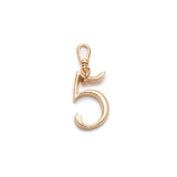 Plaza Number Charm #5 Small