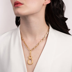 Edge Link Short Chain Plaza Necklace Base