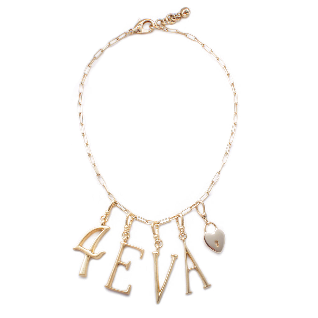 "Plaza Chat ""4EVA"" Charm Necklace"