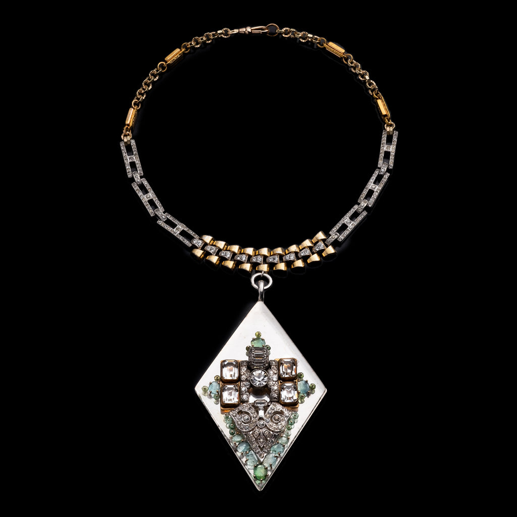 Fine Vintage Pendant Necklace - Diamond Drop