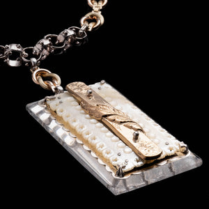 Fine Vintage Pendant Necklace - Rectangle Drop