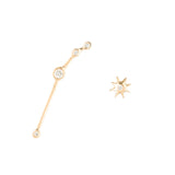 Zodiacs 14K & Diamond Aries + Fire Stud Set