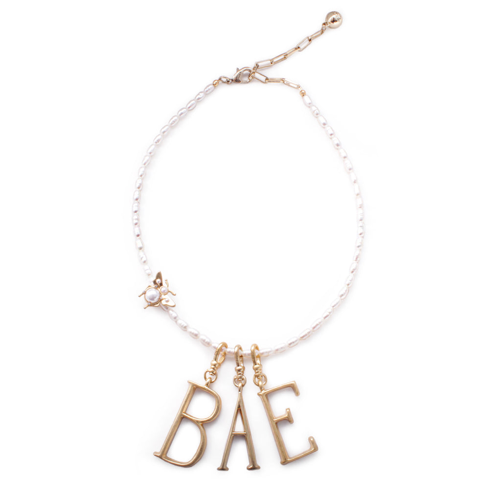 "Plaza Chat ""BAE"" Charm Necklace"