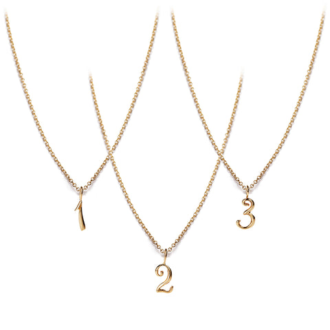 Code Number Necklace Yellow Gold 14KT