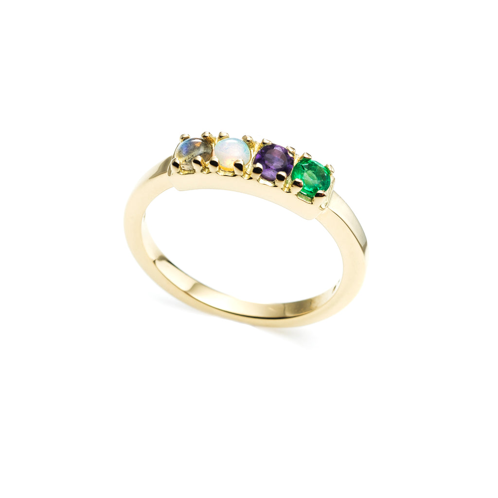 Code Word Love Ring 14K Gold