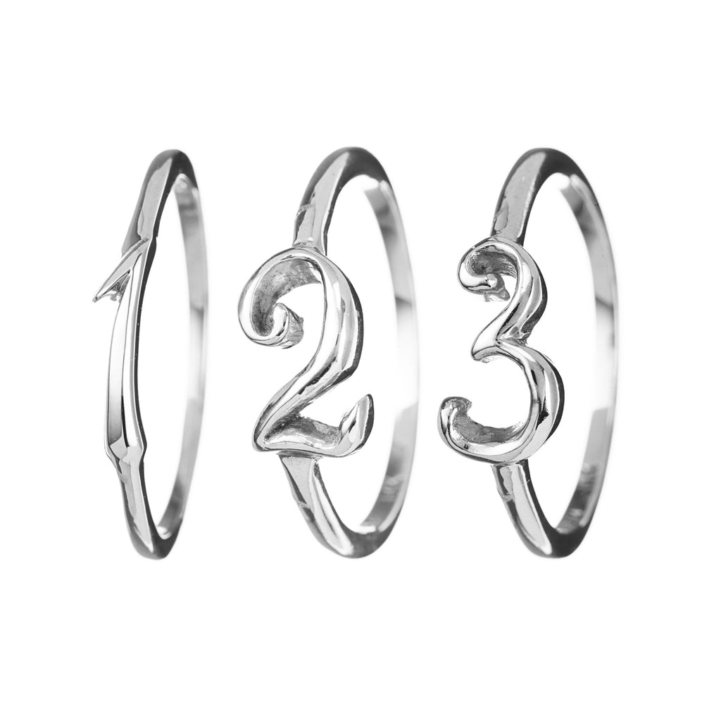 Code Number Ring Sterling Sterling Silver